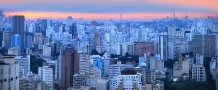 Panoramic view of Sao palo skyline 版權商用圖片 - 22095544