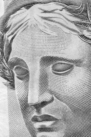 effigy: Republic s Effigy portrayed as a bust on Brazilian Real Stock Photo