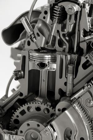exhaust valve: Internal combustion engine Stock Photo