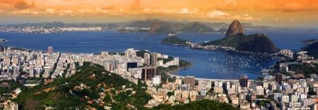 america del sur: Vista panorámica de Río de Janeiro, Brasil paisaje