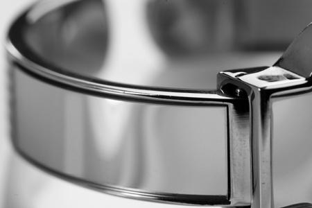 Close up shot of shiny watch strap