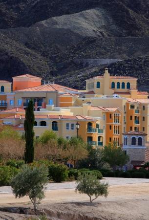 lasvegas: Colorful buildings near Lake LasVegas