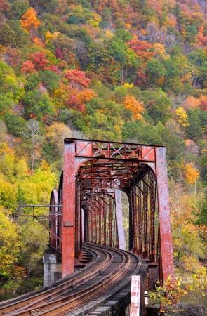 virginia: Old train bridge in West Virginia Stock Photo