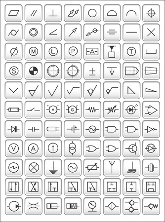 engineering drawing: Engineering symbols