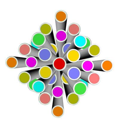 An illustration of colorful 3d design element 版權商用圖片