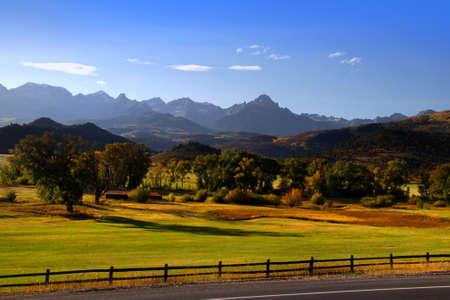 Dallas divide in Colorado in autumn time photo
