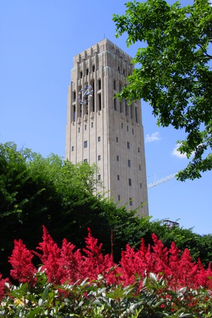 arbor: Clock tower in University of Michigan Editorial