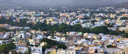 Panoramic view of South Indian city Vijayawada