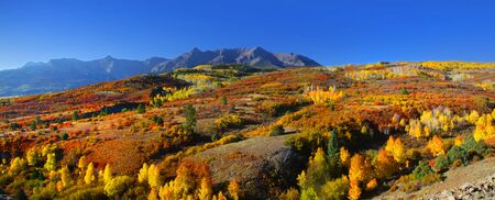 colorado mountains: Panoramic view of scenic Dallas divide landscape Stock Photo