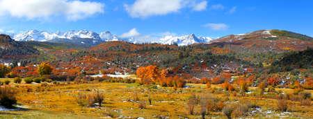 Mount Sneffles from Colorado rural road 7 photo
