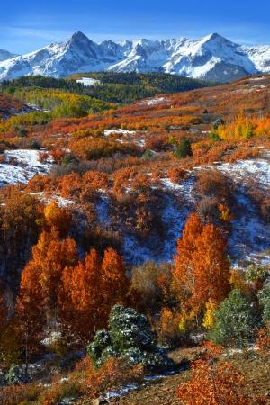 juan: Scenic landscape of Dallas divide in autumn time Stock Photo