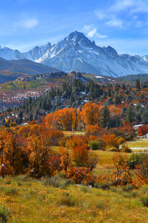 Sneffles peak in Colorado in autumn time photo