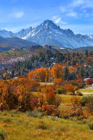 juan: Sneffles peak in Colorado in autumn time
