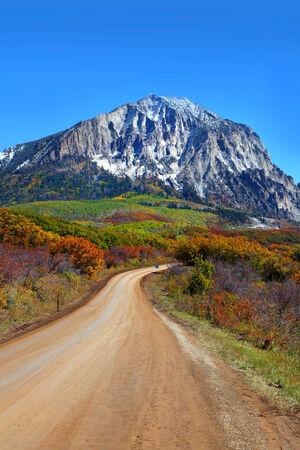 vertical image: Scenic back road 12 in Colorado