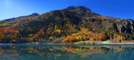 Crystal lake reflections in Colorado photo