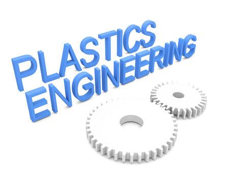 3d concept of Plastics engineering Stock fotó