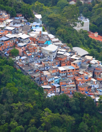 deficient: Favela in the middle of Rio de Janerio city Stock Photo