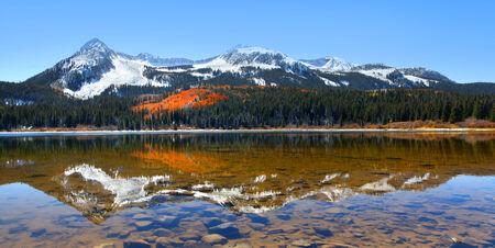 lost lake: Lost lake reflection Stock Photo