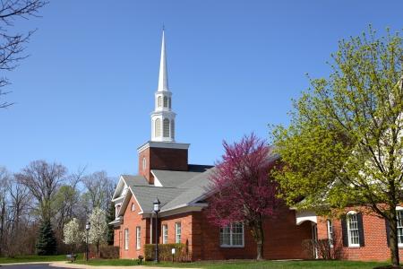 Elegant Church building in spring time Фото со стока - 24681721