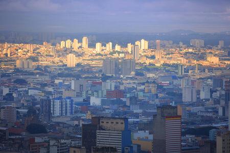 Sao Paulo city in the evening