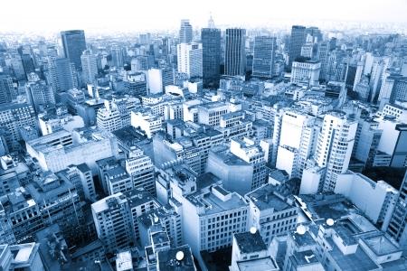 Wide angle shot of SaoPaulo urban area