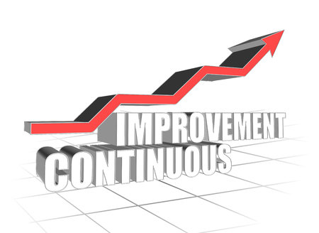 continuous: Continuous Improvement Stock Photo