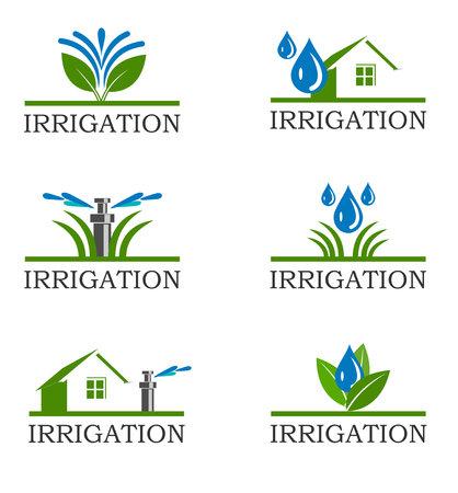 An illustration of Irrigation icons Stockfoto