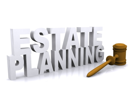 3D illustration of Estate planning concept