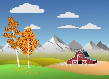 row houses: Scenic mountain landscape