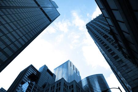 tall glass: Tall glass buildings