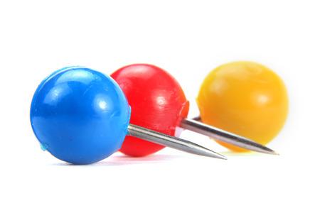 pin board: Three round push pins