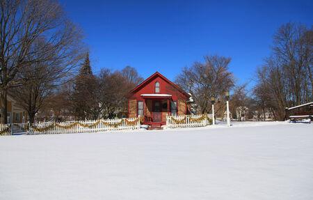 michigan snow: Historic Mill race village