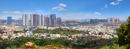 New downtown in Hyderabad India Stock Photo