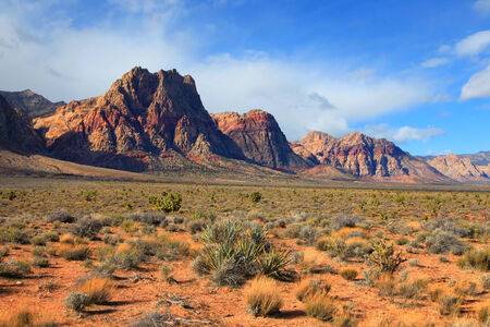 Scenic Red rock canyon landscape