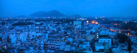 Panoramic view of Vijayawada city