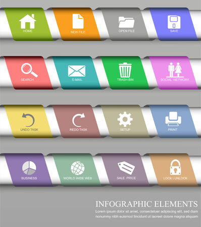 Infographic design element photo