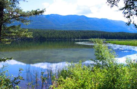 still water: Scenic lower still water lake in Montana