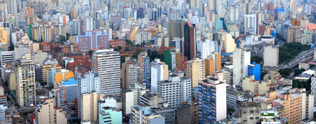Panoramic view of city of Sao Paulo Brazil photo