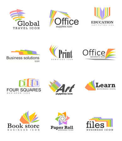 four color printing: Business icons