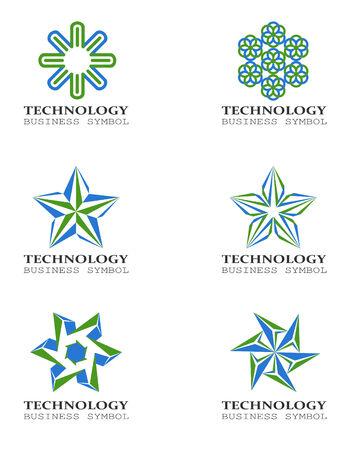 Six star shaped design elements Stock Photo - 29055930
