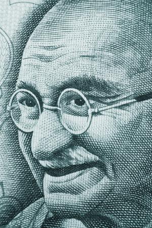 mahatma: Mahatma Gandhi portrait on rupee note Stock Photo