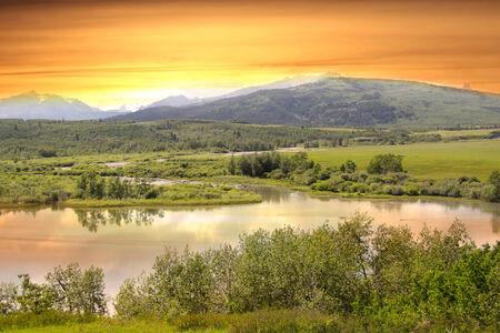 Evening scene in Montana photo