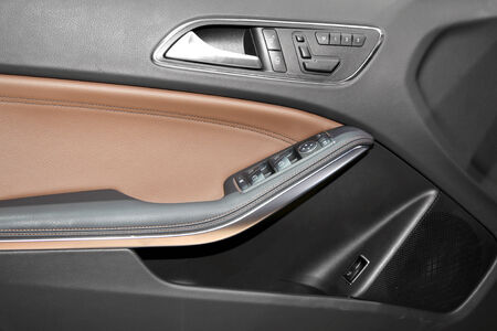 Luxury car door interior trim Stock Photo