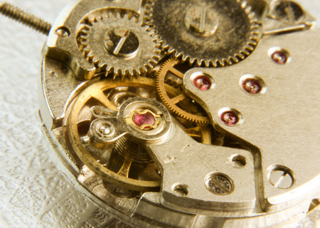 Old watch mechanism photo