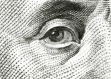 Eye of Benjamin Franklin Imagens - 29061588