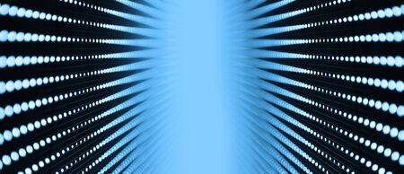 Background of blue LED walls