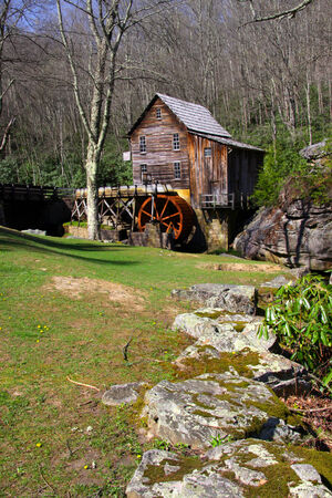 Grist glade creek mill in West Virginia photo