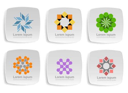 Business design icons Illustration