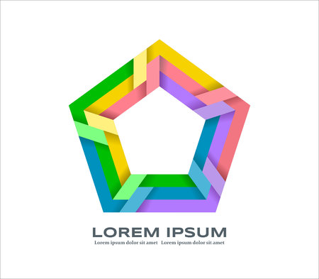 Colorful design element 向量圖像