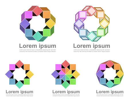 infinite loop: Colorful infinite loop icons